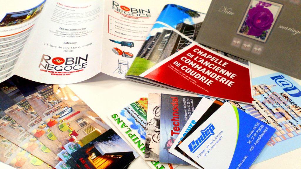 Carte de visite, flyers et livrets en vracs